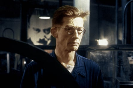 John Hurt in the film 1984: Huxley disagreed with former pupil George Orwell's 'Big Brother' vision of control by force.
