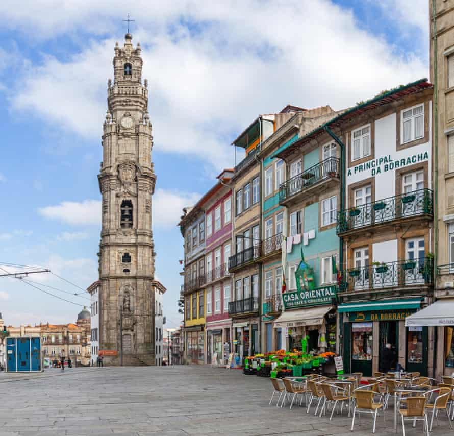 Clérigos Tower, a landmark of the historic city – a Unesco world heritage site.