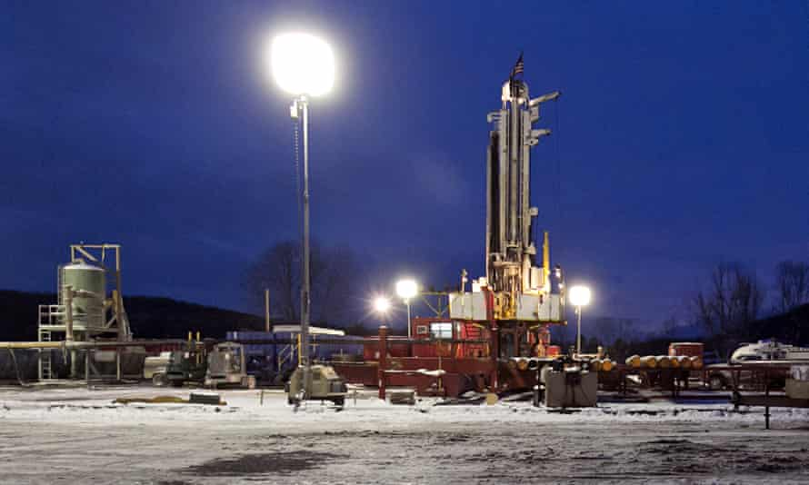 A fracking site in Pennsylvania.