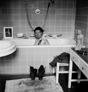 Lee Miller in Hitler's bathtub, Munich, Germany, 1945