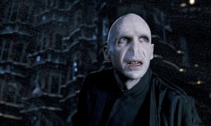 Ralph Fiennes as Voldemort in Harry Potter and the Order of the Phoenix.