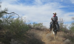 Andrew Healey hits the cowboy trail on Amigo, his trusty steed