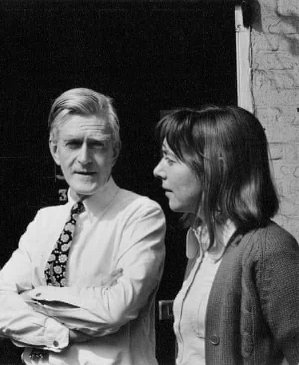 Margaret Calvert with Jock Kinneir in the early 70s.