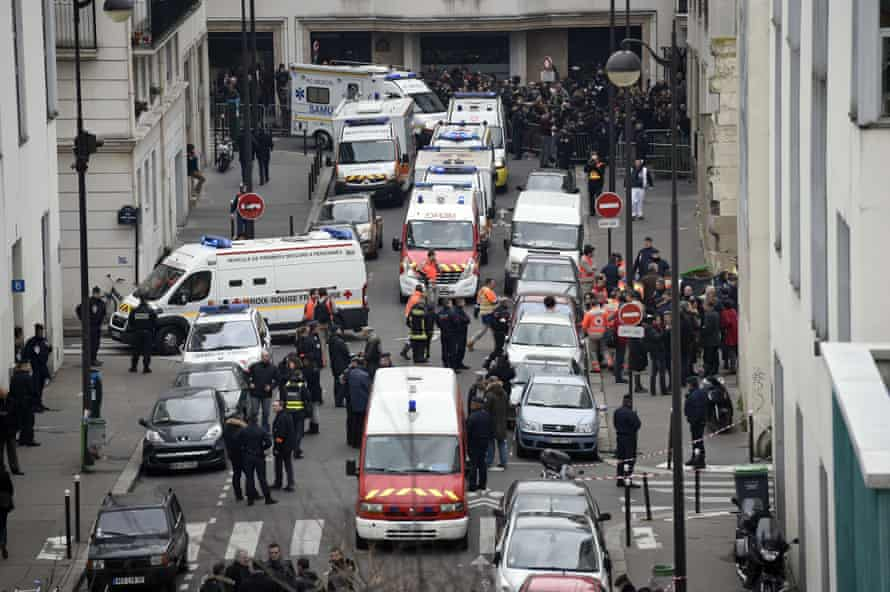 The aftermath of the Charlie Hebdo attacks.