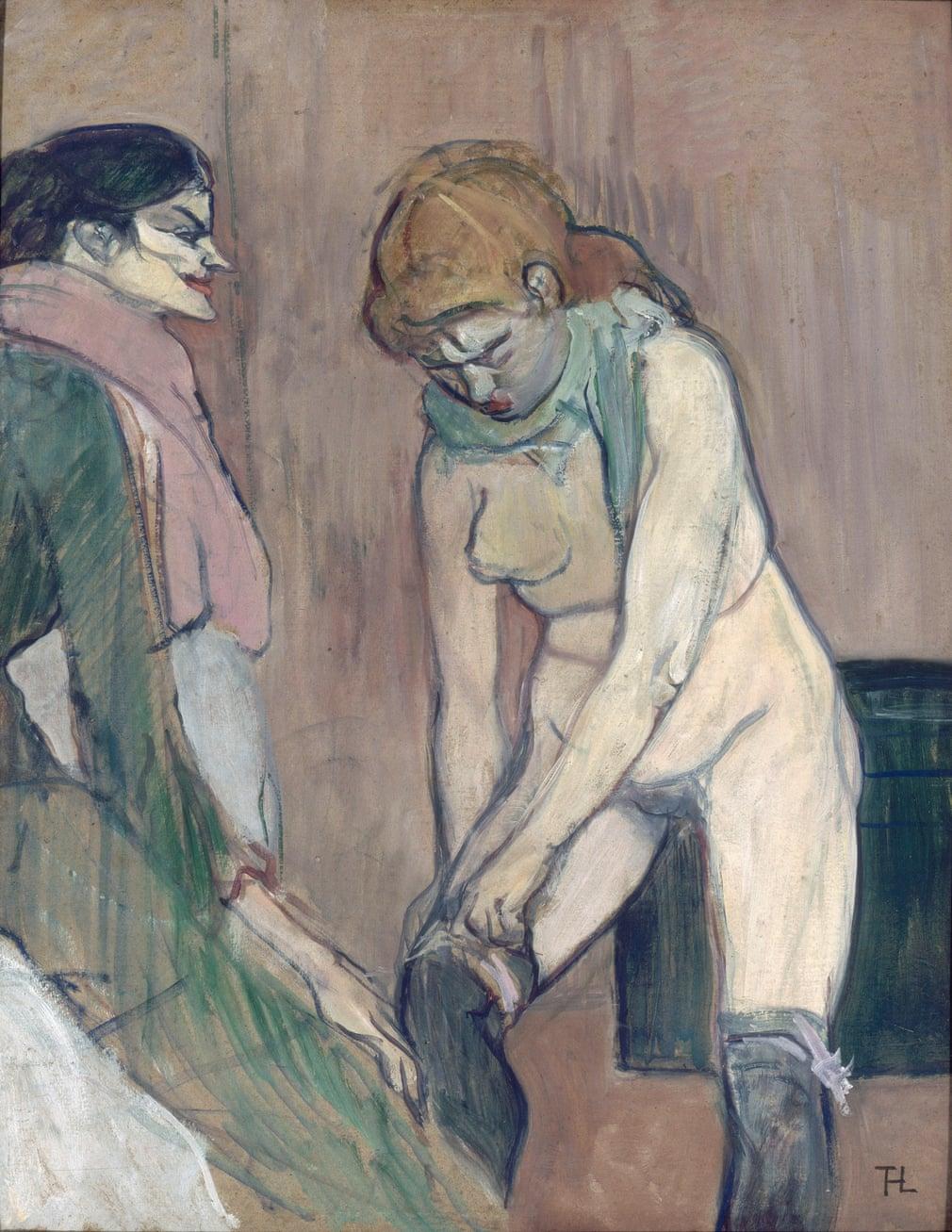 Henri de Toulouse-Lautrec: Femme tirant son bas, 1894
