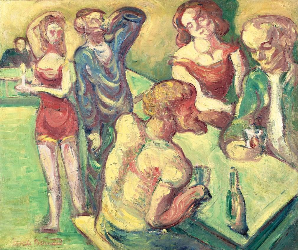 Emile Bernard: Au cabaret, 1887