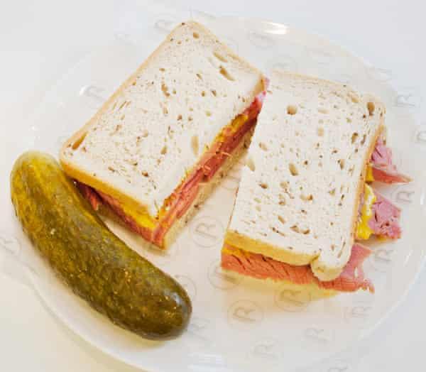 Brass Rail's salt beef with pickle
