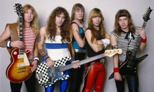 Iron men: (from left) Dave Murray, Steve Harris, Nicko McBrain, Bruce Dickinson and Adrian Smith of Iron Maiden in 1988.