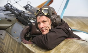 'I had to have something else, just to keep my brain alive': in his Fokker Dr1 triplane.