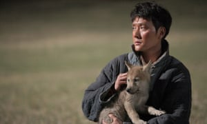 Wolf haul … Feng Shaofeng and friend in Wolf Totem.