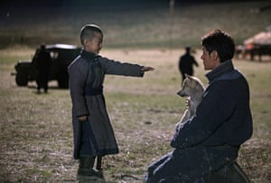Reaching out … Feng Shaofeng in Wolf Totem.