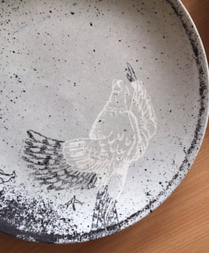 Inspired by tattooed factory workers: Kiki van Eyck's  plate for 1882 Ltd.