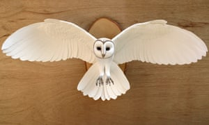 Winging it: Zack Mclaughlin's startlingly lifelike sculptures are made from paper, wood, clay and paint.