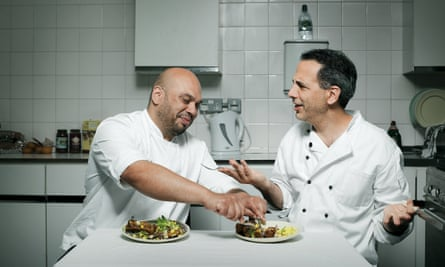 Ramael Scully and Yotam Ottolenghi in the kitchen