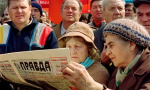 Pravda reliably carried the state line during the Soviet era.