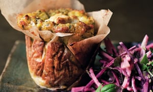 Yotam Ottolenghi's corn cakes with beetroot and apple salad
