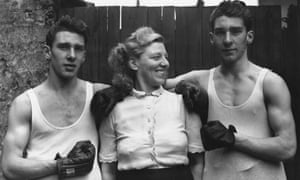 Reggie and Ronnie Kray with their mother Violet in the early 1950s.