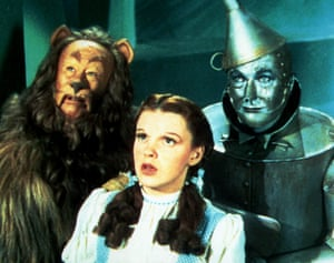 Bert Lahr as the cowardly Lion, in The Wizard of Oz.