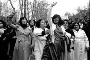 Hengameh Golestan's photo of Iranian women protest against the Hijab law in Tehran in 1979.