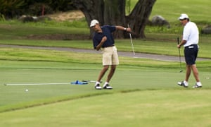 President Barack Obama, playing here in Hawaii, has been spotted using GameGolf.