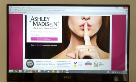 Online cheating site Ashley Madison, which is still operating.