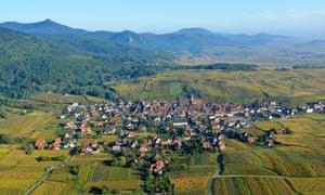 Riquewihr village on the Alsace wine route.