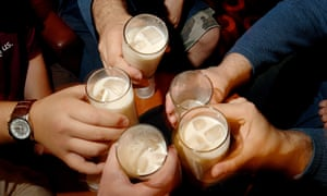 Fans of The Big Lebowski raise a toast of white russians at Lebowski Fest in London.