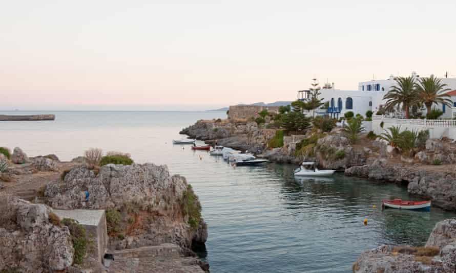 The port at Avlemonas, Kythera island, Greece