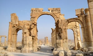 The Monumental Arch, one of Palmyra's gems.