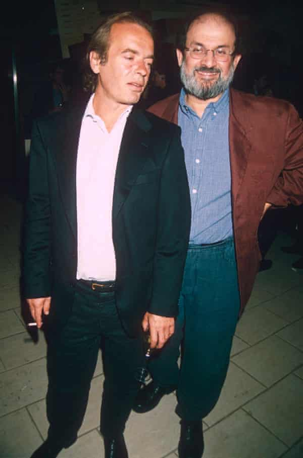 Rushdie with Martin Amis at a Nigella Lawson book launch in 1998.