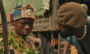 Abraham Attah, left, and Idris Elba in Beasts of No Nation. Netflix
