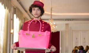 A bellboy at the Hill & Friends Spring/Summer 2016 show at London fashion week