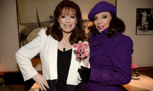 Jackie Collins with her sister, Joan, the actor and star of Dynasty.