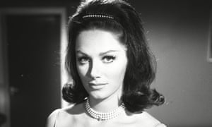Jackie Collins appearing in an episode of the TV series The Saint in 1963.