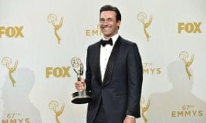 Made man…Jon Hamm wins at the 67th Primetime Emmy Awards.