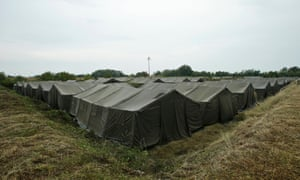 Refugee camp at Opatovac