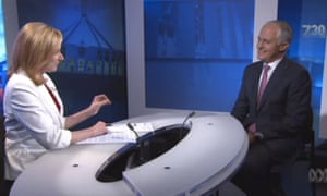 Malcolm Turnbull and Leigh Sales on ABC's 7.30
