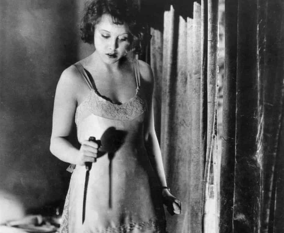 Anny Ondra in Hitchcock's Blackmail.