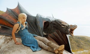 You're Drogon me down… Emilia Clarke in Game Of Thrones.