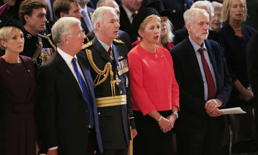 Jeremy Corbyn at the Battle of Britain memorial service
