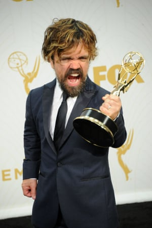 Tyrion triumphs… Peter Dinklage wins best supporting actor in a drama at the 67th Primetime Emmy Awards.