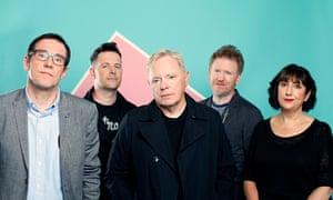 New New Order: Stephen Morris, Tom Chapman, Bernard Sumner, Phil Cunningham and Gillian Gilbert.