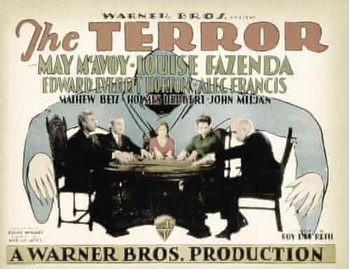 A poster for the 1928 film The Terror