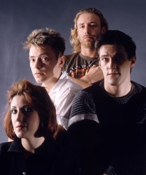 New Order in the 80s with Peter Hook, top.