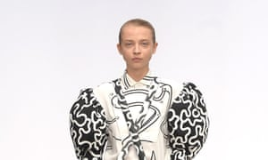 Giant sleeves on the JW Anderson catwalk.