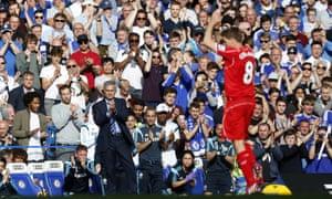 Steven Gerrard and José Mourinho
