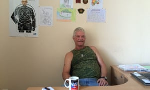 Russell Bentley at his office in Donetsk