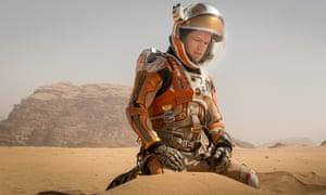 Lonely planet ... Matt Damon in The Martian.