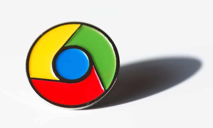 google chrome logo pin