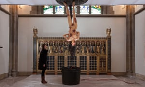Jake and Dinos Chapman's Cyber Iconic Man in Sheffield cathedral